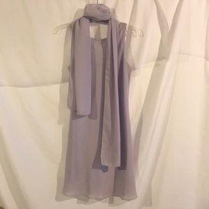 Light purple chevron dress